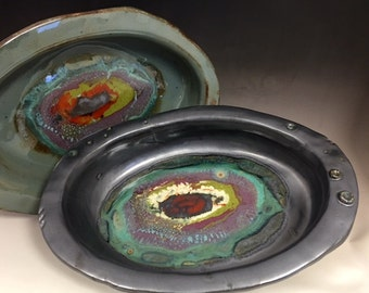 Rustic Oval Serving Bowl