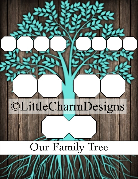 family tree template digital download high quality 8 5 x