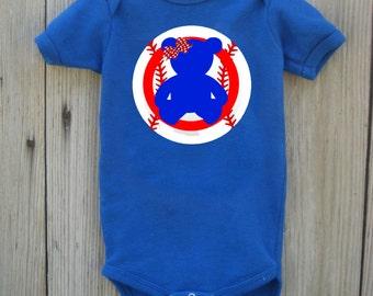 Cubs Inspired Bodysuit for Baby Girl