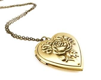 Lucy Locket, Heart Shaped Bronze Locket