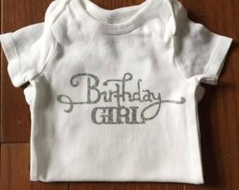 Glitter Birthday Girl Onesie