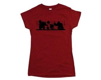 Super Mario Bros: Mario Villain Suspects Ladies Fit T-shirt