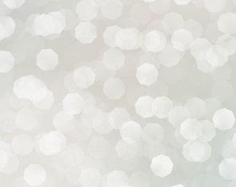 5x5 Silvery Bokeh Backdrop Silver Sparkles Photography Backdrop, Christmas Backdrop, Holiday Backdrop - Fab Vinyl 5x5 ft  - (FV0014)