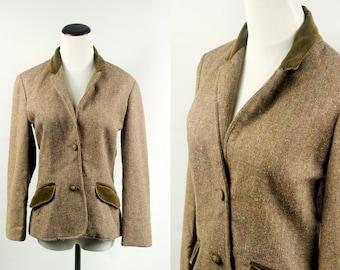 1970's Wool & Velvet Tweed Blazer
