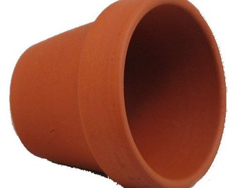 "100 - 2.5"" x 2.25"" Clay Pots - Great for Plants and Crafts"