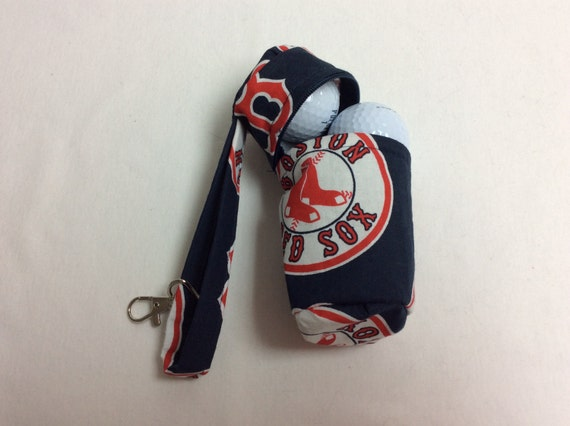 The Batter Up: Golf Ball Bag (Boston Red Sox Print)