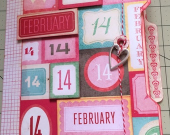 February 14th Mini File Folder Album