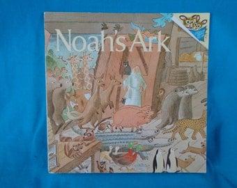 vintage 1978 Noah's Ark book retold by Lawrence T. Lorimer