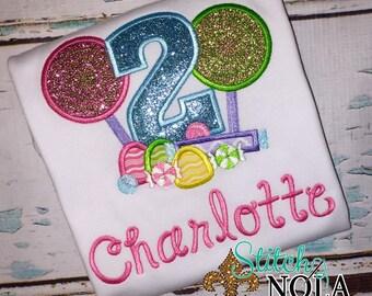 Sweet Shop, Candyland, lollipop Birthday Shirt or Bodysuit
