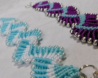 Micro Macrame Tutorial Spiral bracelet.  Easy to Follow Instructions