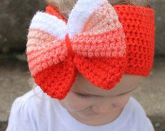 Big Bow Head Wrap PDF Crochet Pattern Download