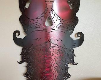 """Sugarskull/Bearded skull/Hipster sugarskull, """"MADE TO ORDER"""""""
