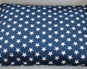 """Modern Dog Bed Cover, Navy Blue with White Stars, Patriotic,  Pet Bed- Small (19"""" x 25"""")- Ready to Ship"""