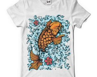 Lucky Koi Carp Fish Men's T-Shirt (SB407)
