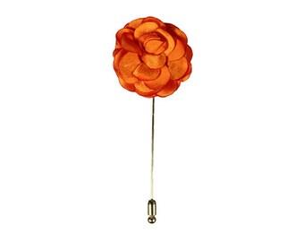 Lapel Flower / Lapel Pin - Orange Flower