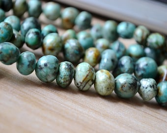 Natural Turquoise Beads Freeform Untreated Turquoise Crystal Quartz Bead Healing Crystal A181