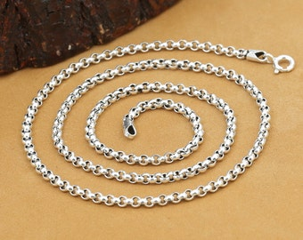 925 sterling silver chain necklace 3mm silver chain wholesale Y329