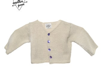 """FOURMIGUETTE"" v color linen Cardigan"