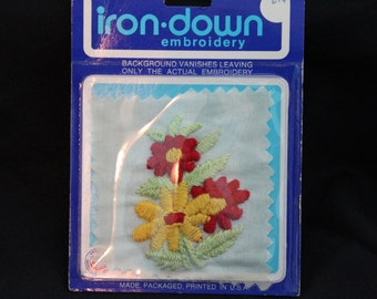 NOS Vintage Iron On Embroidery