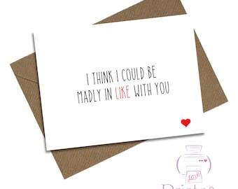 Funny birthday anniversary card Husband Wife Girlfriend Boyfriend Valentine's