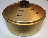 Vintage Rival Crock Pot Bread n Cake Bake Baking Pan For Slow Cooker Complete with Two Racks Vented Locking Lid Anodized Aluminum Excellent
