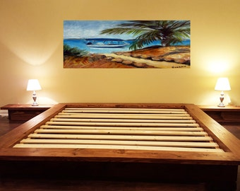 platform bed floating bed loft bed low profile bed bed with night tables integrated night stands bed with built in night tables