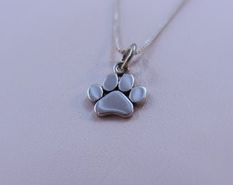 Paw print necklace, Pet necklace