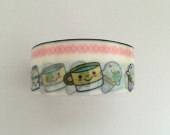 Plastic tape, Kawaii, 1,5cm breed 2 meter lang