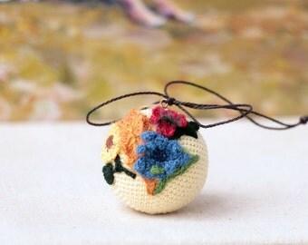 Crocheted  small Ball. Summer home decor. Crocheted Ball. Crochet for home. Kitchen decor. Original home decoration.
