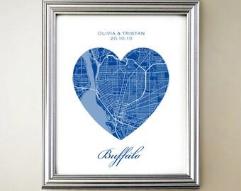 Buffalo Heart Map
