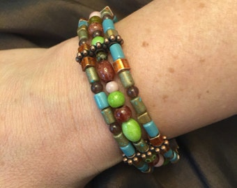 Bracelet with rich earth tones
