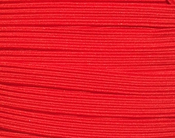"1/4"" Elastic Wholesale, Skinny Elastic for Elastic Headbands, 1/4 inch Thin Elastic by the Yard, 5 yards or 10 yards Red"
