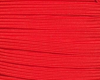 "1/4"" Elastic Wholesale, Skinny Elastic for Elastic Headbands, 1/4 inch Thin Elastic by the Yard, 5 yards or 10 yards Red"