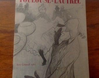 1961 Art Exhibition Pamphlet. Toulouse-Lautrec.