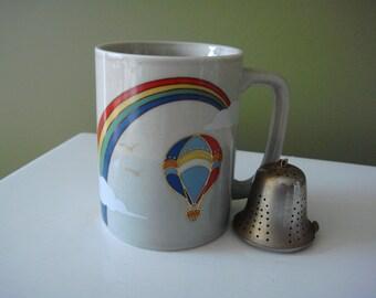 Vintage Mug - Rainbow and Hot Air Balloon - Otagiri - Made in Japan