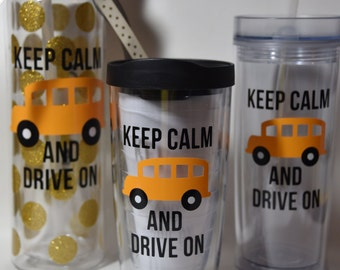Personalized Bus Driver Water Bottle Gift
