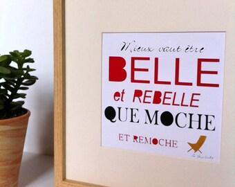 Table cut paper Belle et Rebelle
