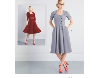 Simplicity Sewing Pattern 8259 Misses' Sew Chic Button Front Dresses