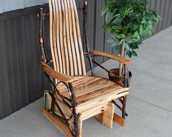 Rustic Hickory Glider Chair