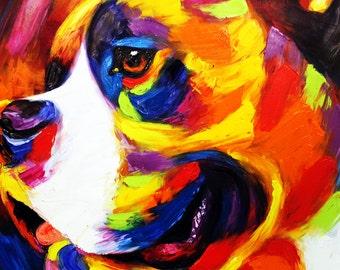 Custom Pet Portrait  - Hand Painted Oil Portrait on Canvas Abstract - Personalized Portrait