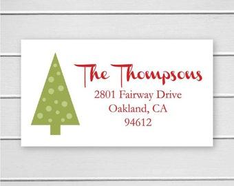 Christmas Return Address Stickers, Christmas Return Address Labels, Return Address Stickers (#313-L)