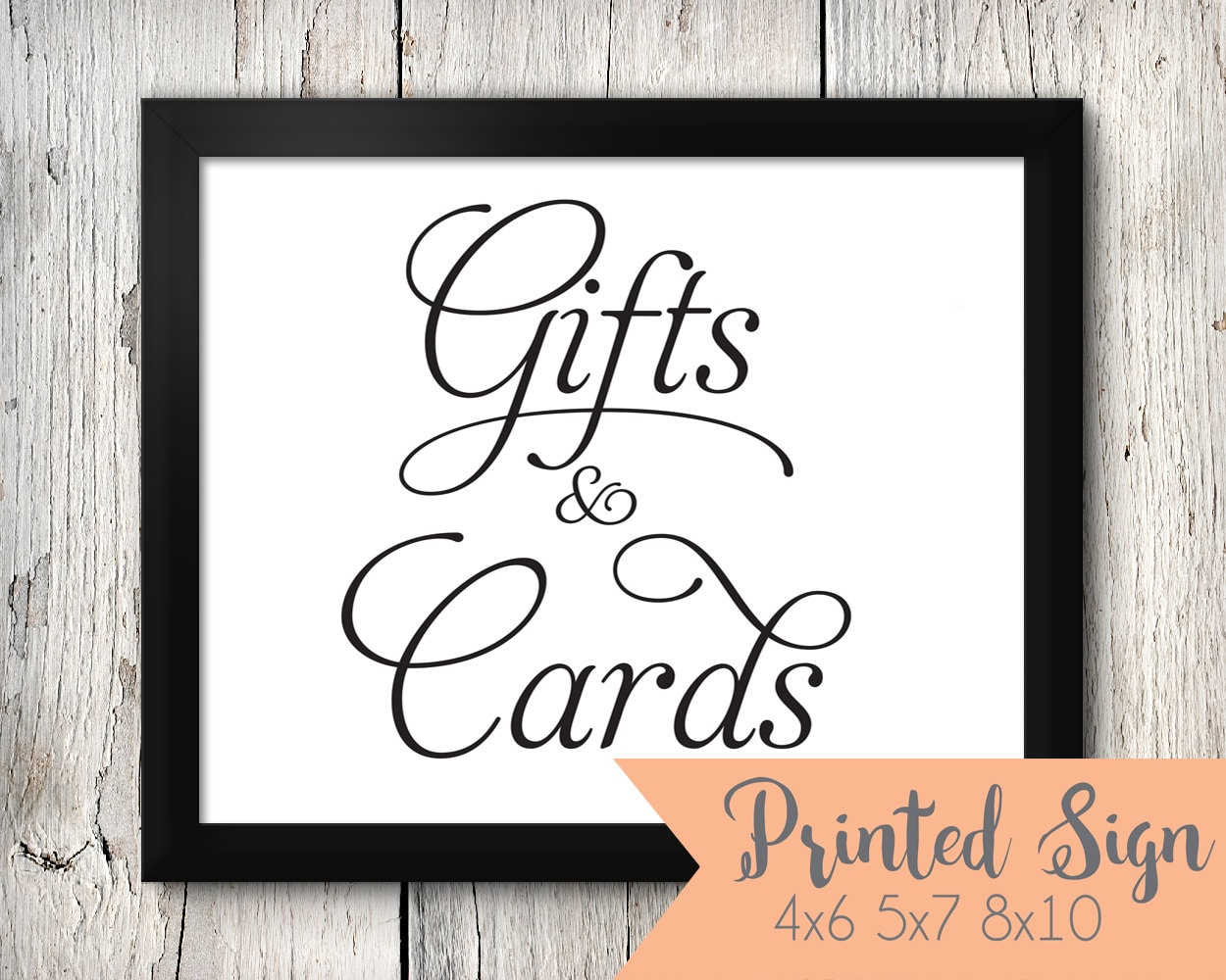 Gift table card table sign gift and card table wedding sign for Table 6 gift card