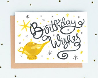 Genie Birthday Wishes Card
