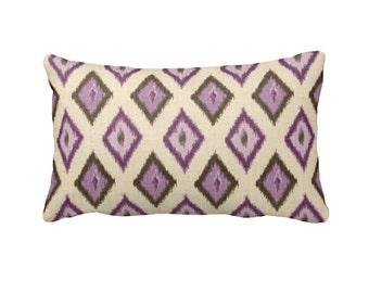 sale 30 off purple pillow cover purple ikat pillow brown pillow plum pillow