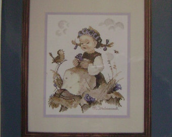 """Needle Treasures """"Blue Belle"""" Counted Cross Stitch Kit"""