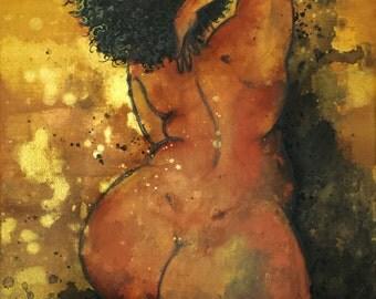 """Gloria... 16"""" x 20"""" Mixed Media Painting"""