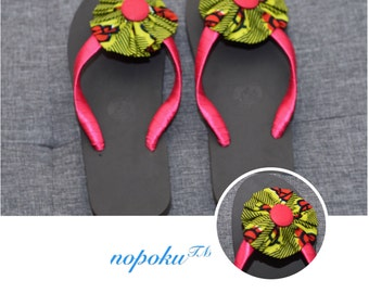 Women's Slippers, Ankara Slippers, Casual Slippers,Flipflops,African shop, African Print Slippers, Sandals,Kitenge Shoes, Gift Idea, Flats