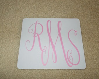 Personalize Monogram Mouse Pad! Made to Order!!NEW!!