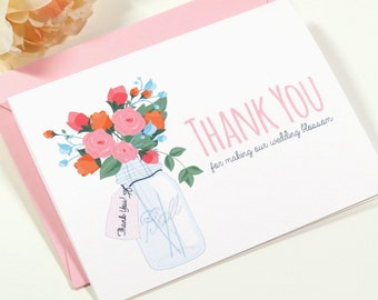 Wedding Card for Your Florist On Your Wedding Day - Thank You For Making Our Wedding Blossom