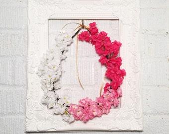Shades of Pink Babys Breath Flower Crown
